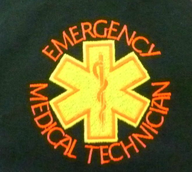 EMT Emergency Medical Technician Star of Life Hunter Green S/S Polo Shirt 2X