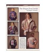 The Oregon Trail Jacket Pattern, by Oregon Trails ~ XS-XXL - $12.99