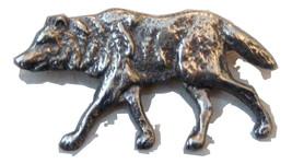 Vintage Wolf Pendant. Wild Canine Dog Pendant. Silver Tone. - $14.00