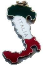 Vintage Italy Pendant. Thick Italia Enamel Pendant In Silver Tone. - $12.00