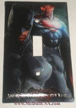 Superman & Batman Light Switch Power Duplex Outlet Wall Cover Plate Home decor image 1
