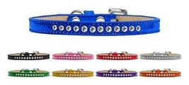 Clear Crystals Ice Cream Dog Collar * Premium Rim Set Crystal Jeweled Pu... - €9,52 EUR+