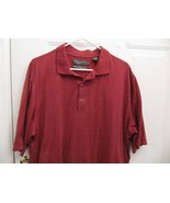 Sz XL Nicklaus Golf Mens Wine/Maroon White Dots Cotton Polo Rugby 3 Butt... - $6.99