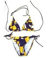 Sunsets Picasso Yellow Halter Bikini Swimsuit NWT$96 Size Small  - $61.75