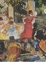 "Edgar Degas: Vintage Bookplate Print: ""Cafe Concert"" 1876 - $12.00"