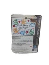 Cross Stitch Mini Kit  Grandparents Touch A Heart Handprints 65011 - $12.73