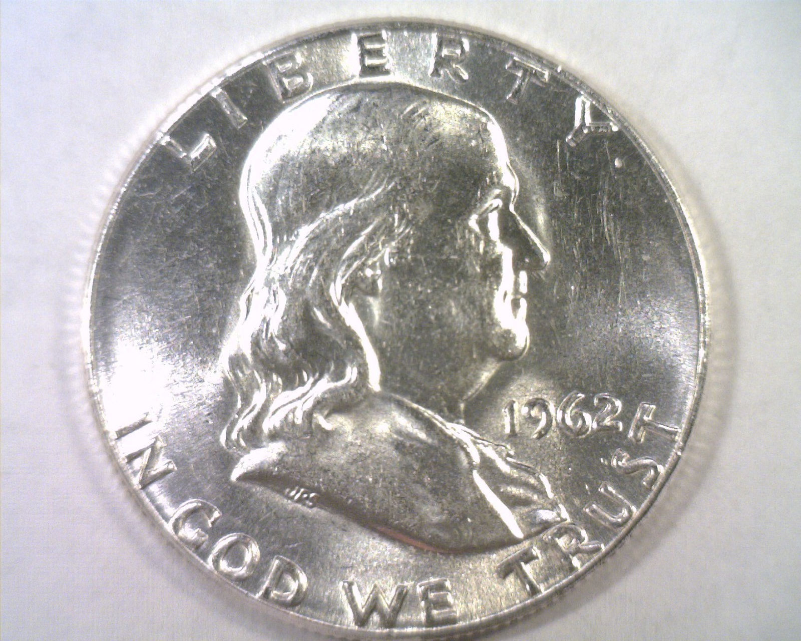 Primary image for 1962 FRANKLIN HALF NICE UNCIRCULATED NICE UNC. ORIGINAL COIN FROM BOBS COINS