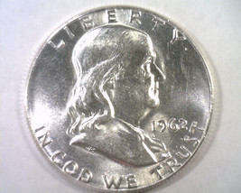 1962 Franklin Half Nice Uncirculated Nice Unc. Original Coin From Bobs Coins - $18.00