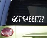 "Got rabbits *H978* 8"" Sticker decal cage food house pen cedar chips beagle vest"