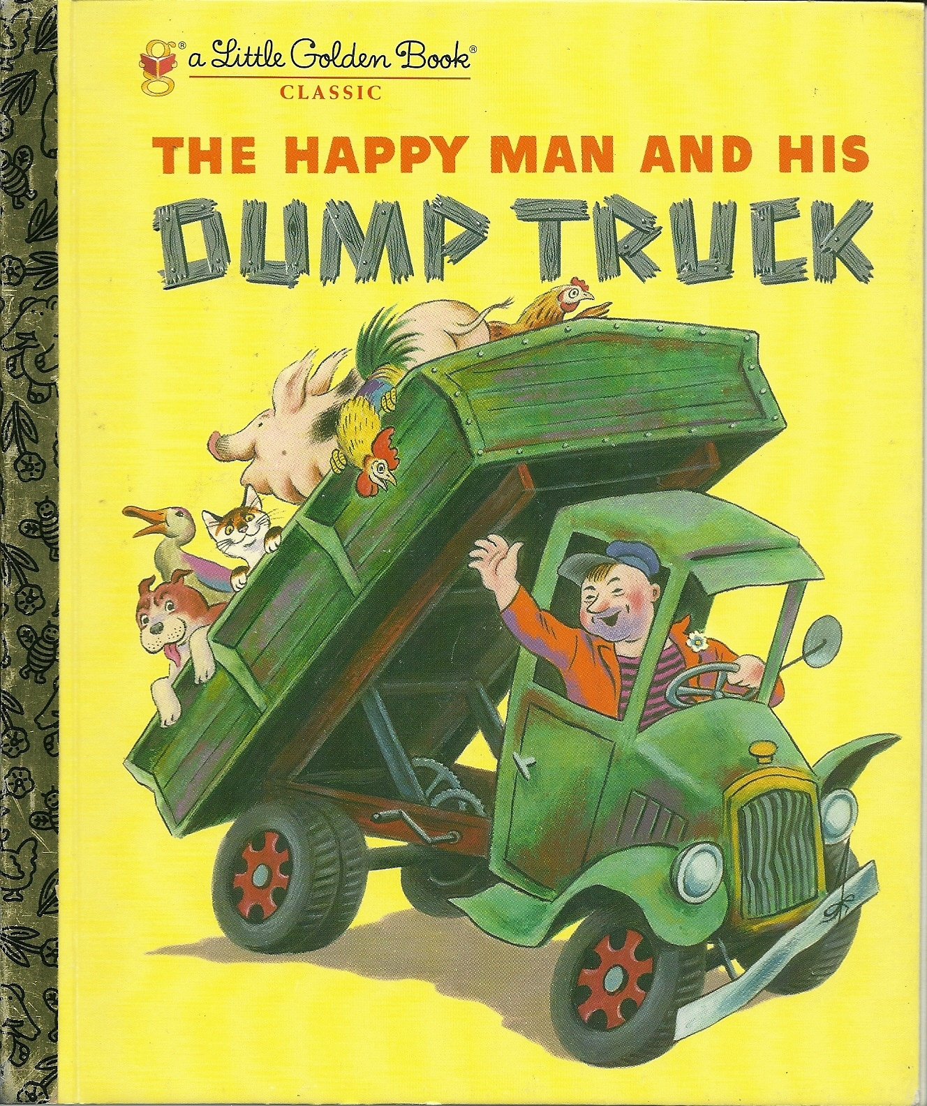 The happy man and his dump truck by miryam hardcover little golden book   1