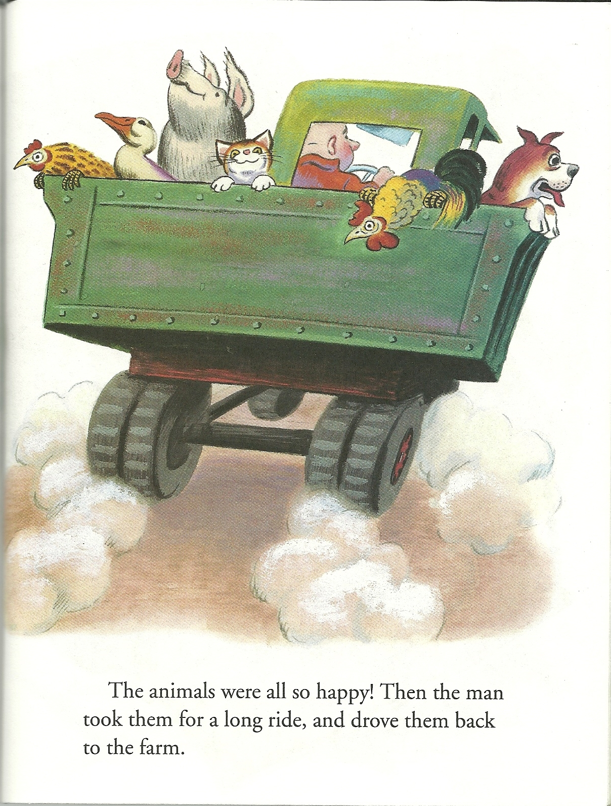 Happy Man And His Dump Truck by Miryam Hardcover Little Golden Book