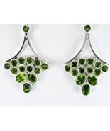 Ice Green faceted Peridot circles + ovals Dangl... - $59.61