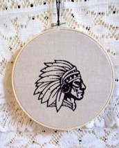Embroidered Chief's Head Indian Head In-Hoop Wa... - $25.00