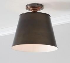 Pottery Barn Classic Flush Mount Bronze Ceiling Light Chandelier Tapered... - $2.320,40 MXN