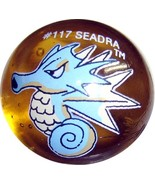 POKEMON MARBLE SEADRA #117 Colored GLASS MARBLE - $7.98