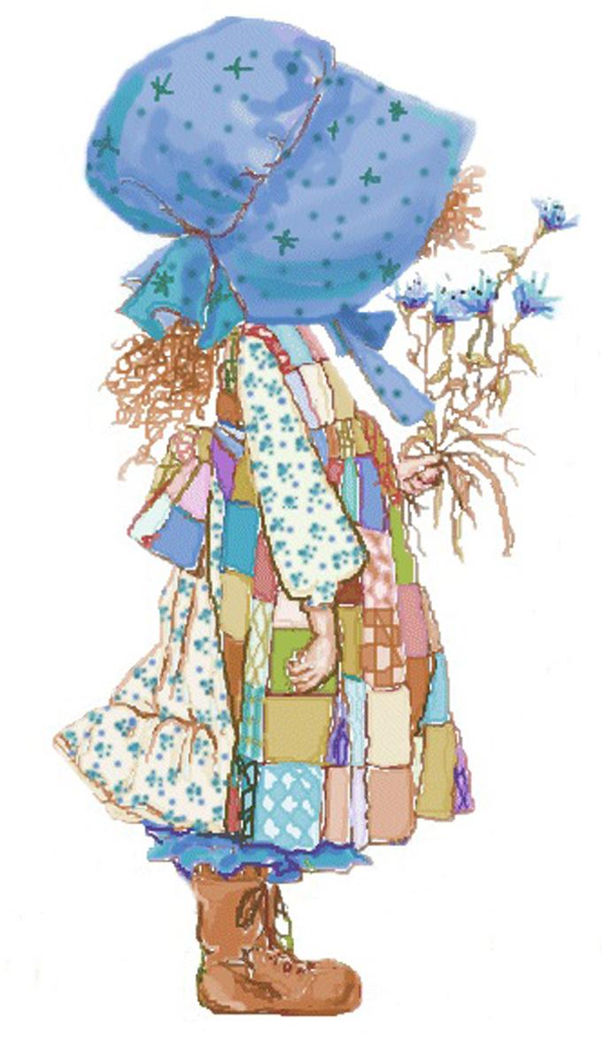 Holly holly hobbie blue  cross stitch pattern
