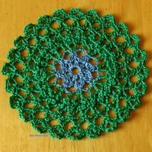 Doily trinket coaster blue flower in grn round single sq 3029 72dpi thumb200