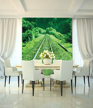 3D Die schienen der Grünen Fototapeten Wandbild Fototapete BildTapete Familie DE - $52.21+