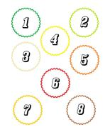 Scallop Circle Number18-Download-ClipArt-ArtCli... - $3.00