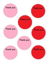 Scallop Circle Thank you19-Download-ClipArt-ArtClip-Digital Tags-Digital - $2.00