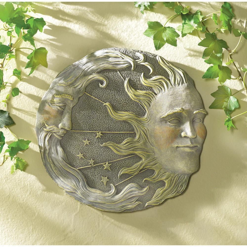 LOT of 5 Celestial Moon Sun Stars Wall Stone Look Plaque