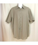 New Sz L Library Mens Taupe Beiges Egyptian Cotton Open Collar Shirt / L... - $8.99
