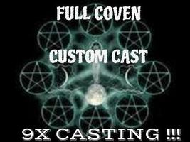 Full coven CUSTOM SPELL, cast 3 nights over 3 different lunar phases  - $99.00