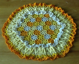 Field of Flowers - Yellow & Orange - Floral Cro... - $28.50