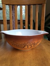 Vintage Pyrex Old Orchard 2.5 qt Mixing Bowl 443 Brown Dish Vtg Cinderella - $11.88