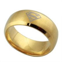 Gold Plated Titanium Stainless Steel Men's Fashion Ring, Band. Gift. Siz... - $23.95