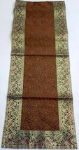 Price Slashed Ethnic designer brocade work silk TABLE RUNNER with a beautiful za - $27.99