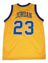 Michael Jordan #23 Laney High School Basketball Jersey New Sewn Yellow Any Size image 5