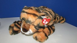 "12"" Ty Beanie Classic Growl Tiger Plush w/ paper hang tag 2001 stuffed a... - $14.99"