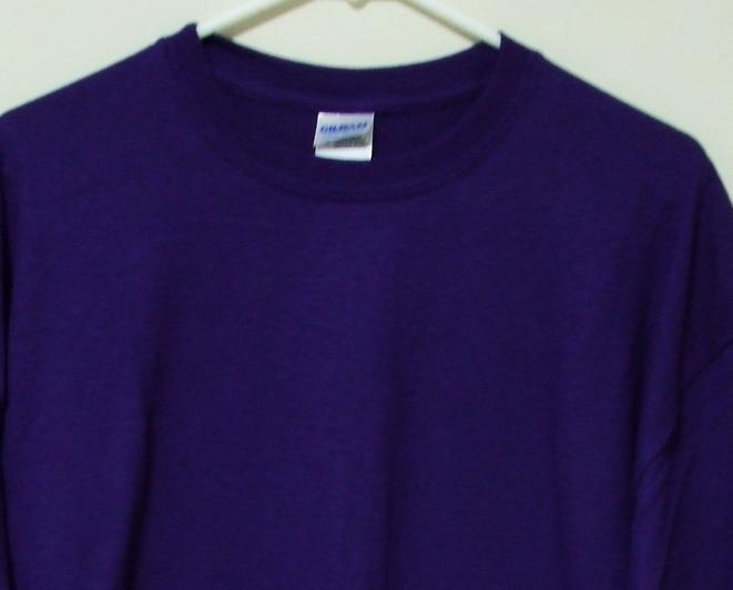 Mens NWOT Gildan Purple Short Sleeve T Shirt Size 3XL