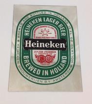 Vintage 1990's Heineken Lager Beer Brewed in Holland Mirror - $29.69