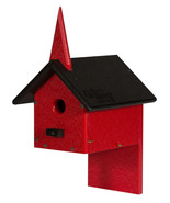 COUNTRY CHAPEL BIRD HOUSE Weatherproof Poly Church Post Wall Mount Custo... - $47.49+