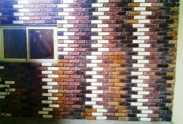 "Antique Brick Veneer Concrete Moulds (30 8x2"") Make 1000s For Walls Floors Patio"