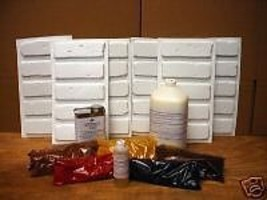 Antique Brick Supply Kit + 30 Molds Make 1000s of Brick Veneer for Walls, Floors