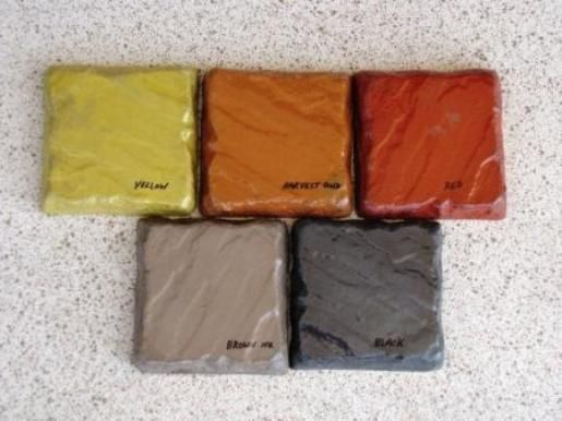 Mixed Concrete Color Pigment (25 lbs/5 colors) for Cement Concrete Plaster Grout