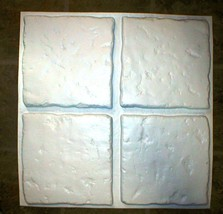 "Chiseled Stone Concrete Tile Molds (4) Make 100s of 13""x13"" Tiles For Pennies Ea"