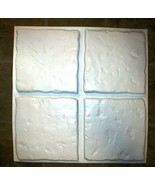 """Chiseled Stone Concrete Tile Molds (4) Make 100s of 13""""x13"""" Tiles For Pe... - $55.99"""