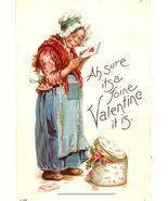Ah sure its a foine Valentine it is Frances Brundage vintage Post Card   - $7.00