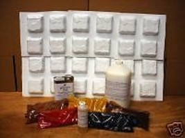 MAKE COBBLESTONE TILE and PATIO PAVERS, 24 MOLDS & SUPPLIES - $159.95