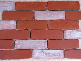 45- 8X2 ANTIQUE BRICK VENEER SIDE MOLDS, MOULDS FOR WALLS FLOORS PATIO COUNTERS