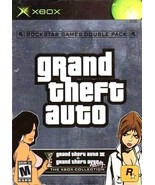 Grand Theft Auto Double Pack Xbox Great Condition Complete Fast Shipping - $35.94