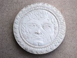 "SUN GOD DESIGN STEPPING STONE CONCRETE, CEMENT MOLD, MOULD IS ROUND 18""x2"" THICK image 1"