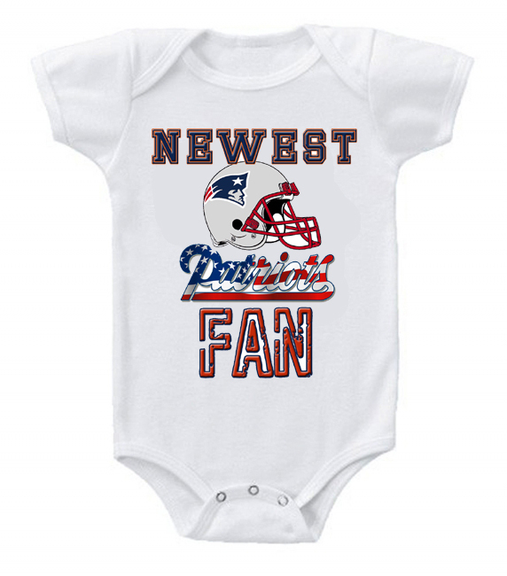 New Cute and Funny Baby One Piece Bodysuit Football NFL New England Patriots #3 for sale  USA