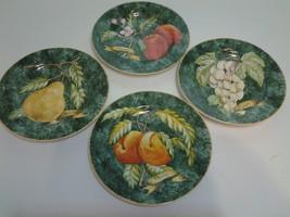"American Atelier, Set of (4), Lattice Fruit 8.25"" Salad Plate China #503... - $15.99"