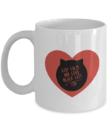 Cute Cat Mug - Keep Calm & Love Black Cats - Red Heart White coffee cup ... - £10.13 GBP+