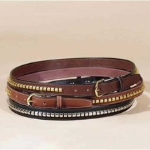 "Tory 1"" Clincher Belt Black Leather 28"" image 1"